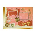 I love you gold melon 6x8 photo plaque - 6  x 8  Desktop Photo Plaque