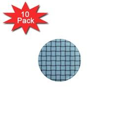 Light Blue Weave 1  Mini Button Magnet (10 Pack)