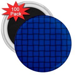 Cobalt Weave 3  Button Magnet (100 Pack) by BestCustomGiftsForYou