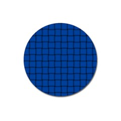Cobalt Weave Magnet 3  (round) by BestCustomGiftsForYou