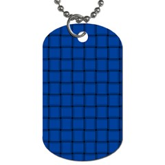 Cobalt Weave Dog Tag (Two Sided)  by BestCustomGiftsForYou