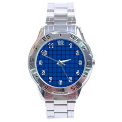 Cobalt Weave Stainless Steel Watch (men s) by BestCustomGiftsForYou