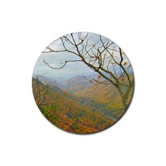 Way Above The Mountains Drink Coaster (round) by Majesticmountain