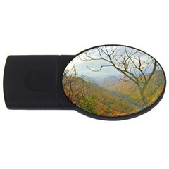 Way Above The Mountains 2gb Usb Flash Drive (oval)