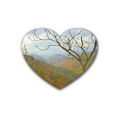 Way Above The Mountains Drink Coasters 4 Pack (heart)  by Majesticmountain
