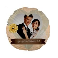 Wedding By Paula Green   Standard 15  Premium Round Cushion    Xa9q69ynhp5z   Www Artscow Com Back