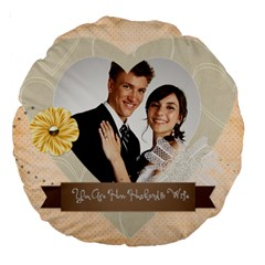 Wedding By Paula Green   Large 18  Premium Round Cushion    Tnzck0k0mfw7   Www Artscow Com Back