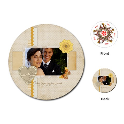 Wedding By Paula Green   Playing Cards (round)   4nbh6ccnlmoh   Www Artscow Com Front
