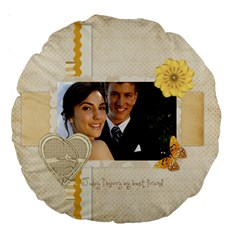 Wedding By Paula Green   Large 18  Premium Round Cushion    2qt1e4xrrryn   Www Artscow Com Front