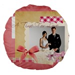 wedding - Large 18  Premium Round Cushion