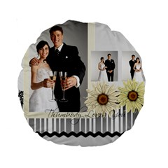 Wedding By Paula Green   Standard 15  Premium Round Cushion    Atdcra3c4ebe   Www Artscow Com Back