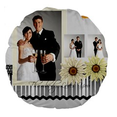 Wedding By Paula Green   Large 18  Premium Round Cushion    Wcvikwtf9mie   Www Artscow Com Back