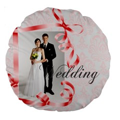 Wedding By Paula Green   Large 18  Premium Round Cushion    J6v11u4exxfe   Www Artscow Com Front