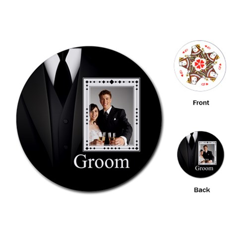 Wedding By Paula Green   Playing Cards (round)   9szadn2z2ogg   Www Artscow Com Front