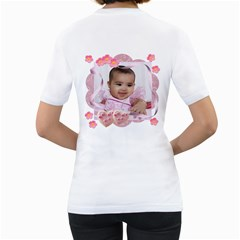 Cookie Hearts And Ribbons By Ivelyn   Women s T Shirt (white) (two Sided)   Nm33h23s3lqp   Www Artscow Com Back