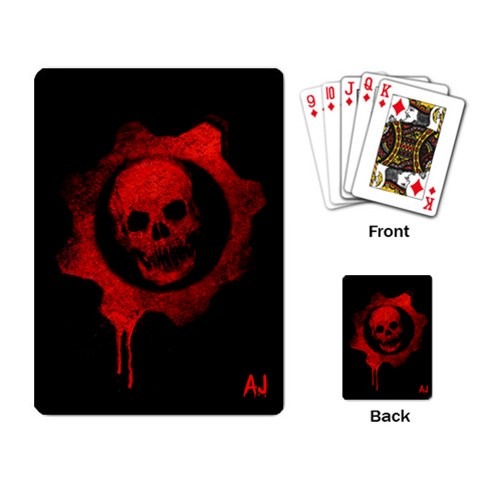 Gears Of Wars Cards By Evilcloud   Playing Cards Single Design   4kmpz191saat   Www Artscow Com Back