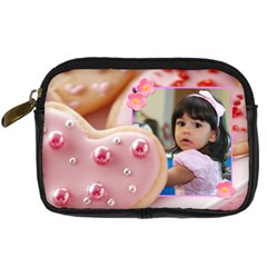 Cookie Hearts By Ivelyn   Digital Camera Leather Case   2yp8wohlahes   Www Artscow Com Front