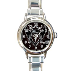 6 Set New Logo Round Italian Charm Watch