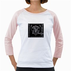 6 Set New Logo Womens  Long Sleeve Raglan T Shirt (white) by 6set