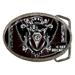 6 Set New Logo Belt Buckle (oval)