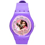 cookie hearts watch - Round Plastic Sport Watch (M)