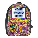 Colorful large book bag - School Bag (XL)