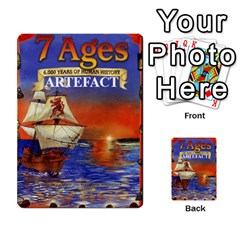7 Ages Card Deck By Steve Fowler   Multi Purpose Cards (rectangle)   Fdyjh52vrzpw   Www Artscow Com Back 50