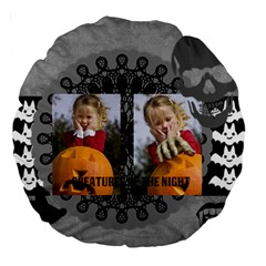 Helloween By Helloween   Large 18  Premium Round Cushion    Ly3h9biml65d   Www Artscow Com Back