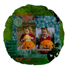 Helloween By Helloween   Large 18  Premium Round Cushion    H81wablqlg97   Www Artscow Com Back