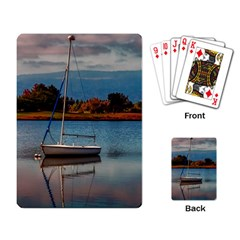 Empty Boat On A Lake Playing Cards Single Design