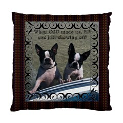 Bulldog Pillow By Joy Johns   Standard Cushion Case (two Sides)   Pv6amc3hwvux   Www Artscow Com Front
