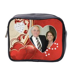 Hearts Toiletries Bag (two Sides) By Kim Blair   Mini Toiletries Bag (two Sides)   Tq2yk3jqtojv   Www Artscow Com Front