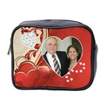 Hearts Toiletries Bag (two sides) - Mini Toiletries Bag (Two Sides)