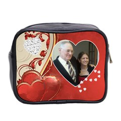 Hearts Toiletries Bag (two Sides) By Kim Blair   Mini Toiletries Bag (two Sides)   Tq2yk3jqtojv   Www Artscow Com Back