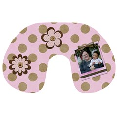 Pink Neck Pillow By Angeye   Travel Neck Pillow   1rzyumvahv0s   Www Artscow Com Front
