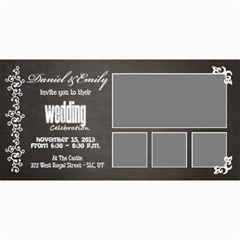 Wedding Invite By Emily   4  X 8  Photo Cards   O7tx69wcfowo   Www Artscow Com 8 x4 Photo Card - 2