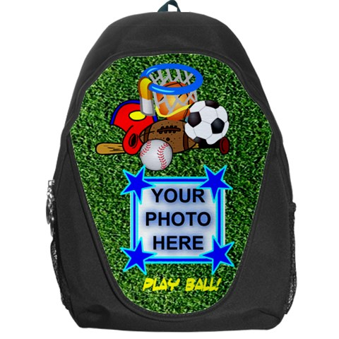 Play Ball Backpack By Joy Johns   Backpack Bag   Wpilzx0hyzff   Www Artscow Com Front