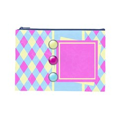 Clutch 1 By Emily   Cosmetic Bag (large)   8p9f9nu9j1ec   Www Artscow Com Front