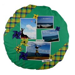 18  Premium Round Cushion : Pinwheels By Jennyl   Large 18  Premium Round Cushion    Ol1b8t81omsj   Www Artscow Com Front