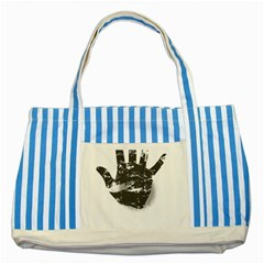 Tshirt Design 560 Blue Striped Tote Bag by bluemoon