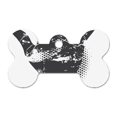 Tshirt Design 560 Dog Tag Bone (one Sided) by bluemoon