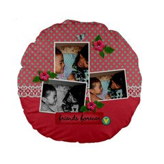 15  Premium Round Cushion : Friends Forever 2 By Jennyl   Standard 15  Premium Round Cushion    H9zvei0eb2r4   Www Artscow Com Back