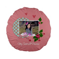 15  Premium Round Cushion : Sweet Lil By Jennyl   Standard 15  Premium Round Cushion    Ah241ot276ya   Www Artscow Com Front