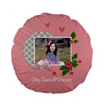 15  Premium Round Cushion : Sweet Lil - Standard 15  Premium Round Cushion