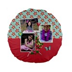 15  Premium Round Cushion : Love Hearts