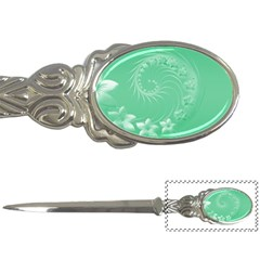 10   Light Green Flowers Letter Opener