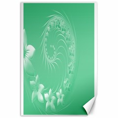 10   Light Green Flowers Canvas 24  X 36  (unframed)