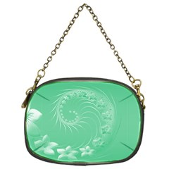 10   Light Green Flowers Chain Purse (One Side)