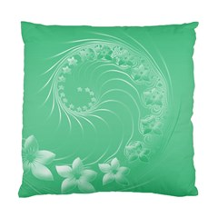10   Light Green Flowers Cushion Case (two Sides)