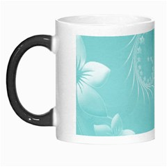 Cyan Abstract Flowers Morph Mug by BestCustomGiftsForYou